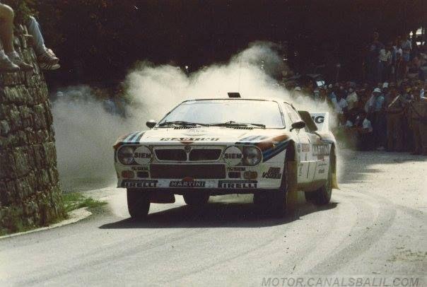 RA Henri Toivonen - Juha Piironen-27º Rally de Sanremo 1985. Lancia Rally 037. Clasificado 3º.