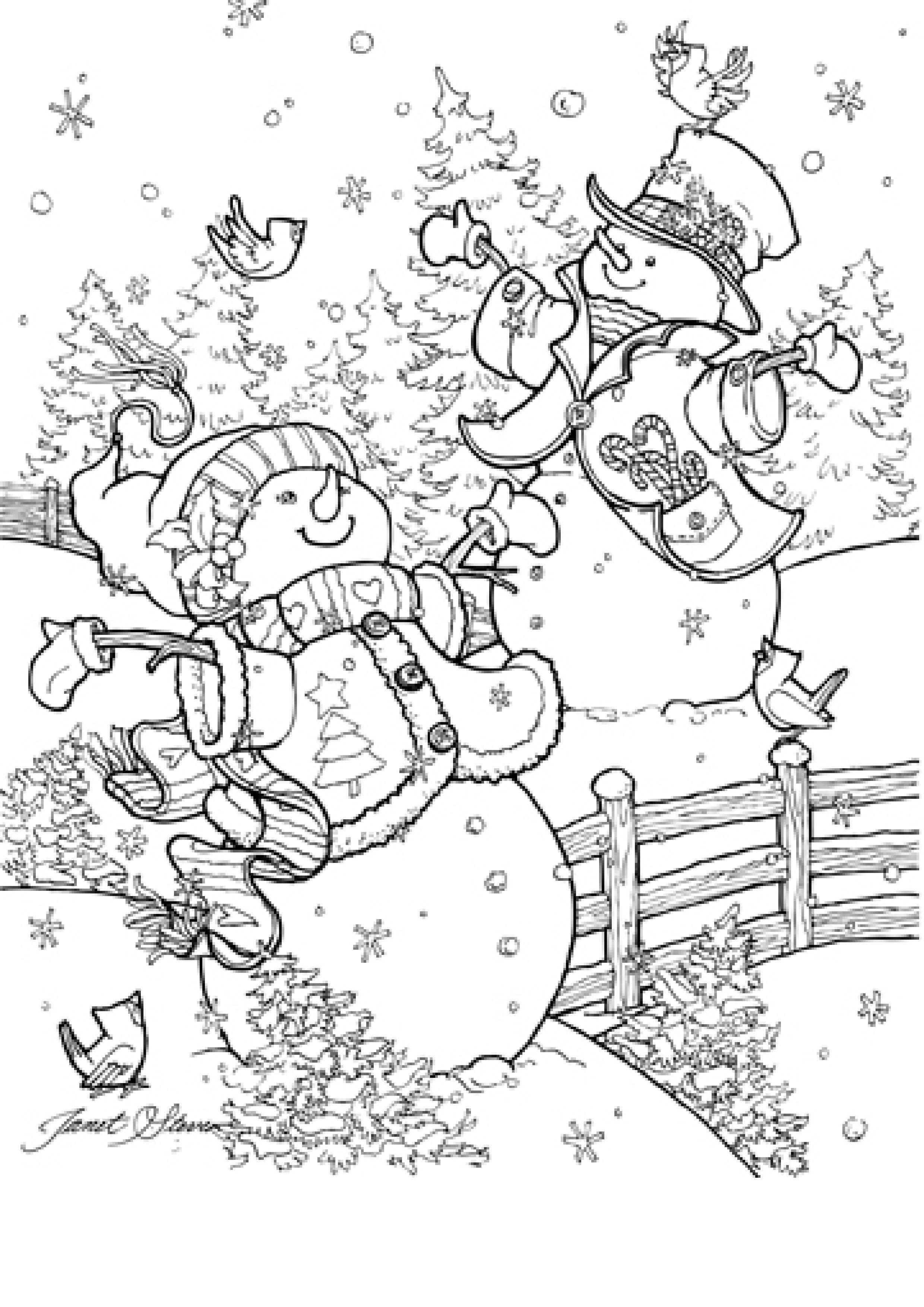 Janet Stever Pintura De Natal Desenhos Para Criancas Colorir