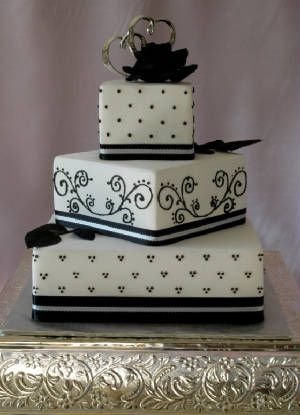 Black And White Cake Cake Blk Amp Wht Pinterest
