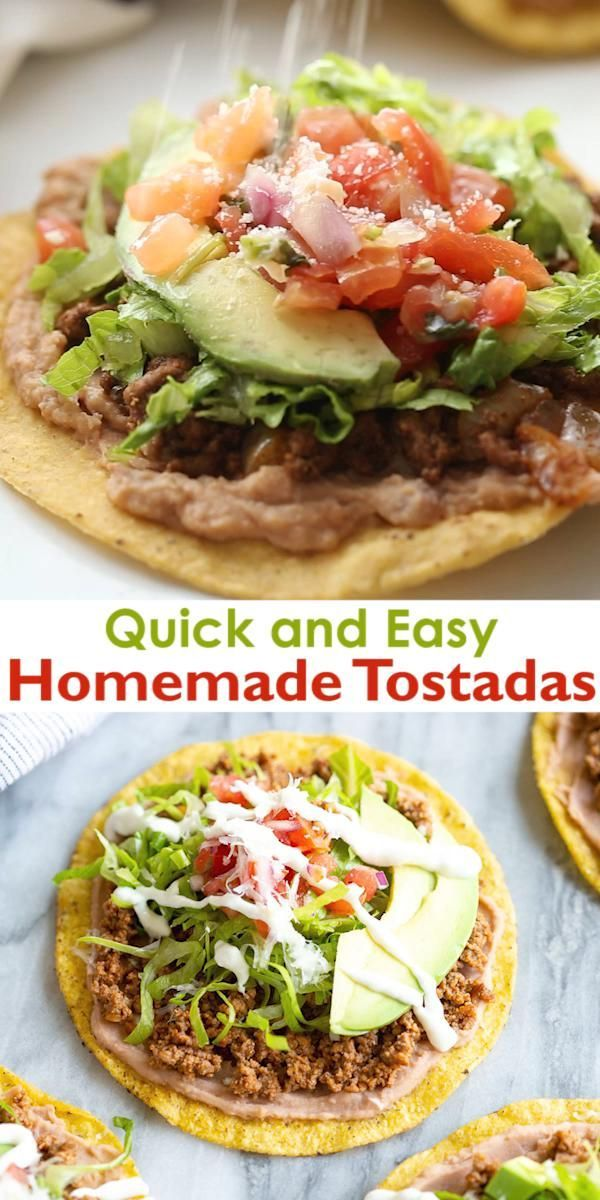 Photo of One of my go-to dinners when I need something QUICK and easy is homemade Tostada…