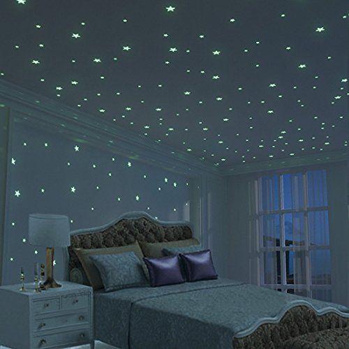Glow In The Dark Stars Wall Stickers Glow In The Dark Stars Wall Stars Glowinthedark Starsticker Dark Room Decor Diy Room Decor For Teens Kids Bedroom Walls