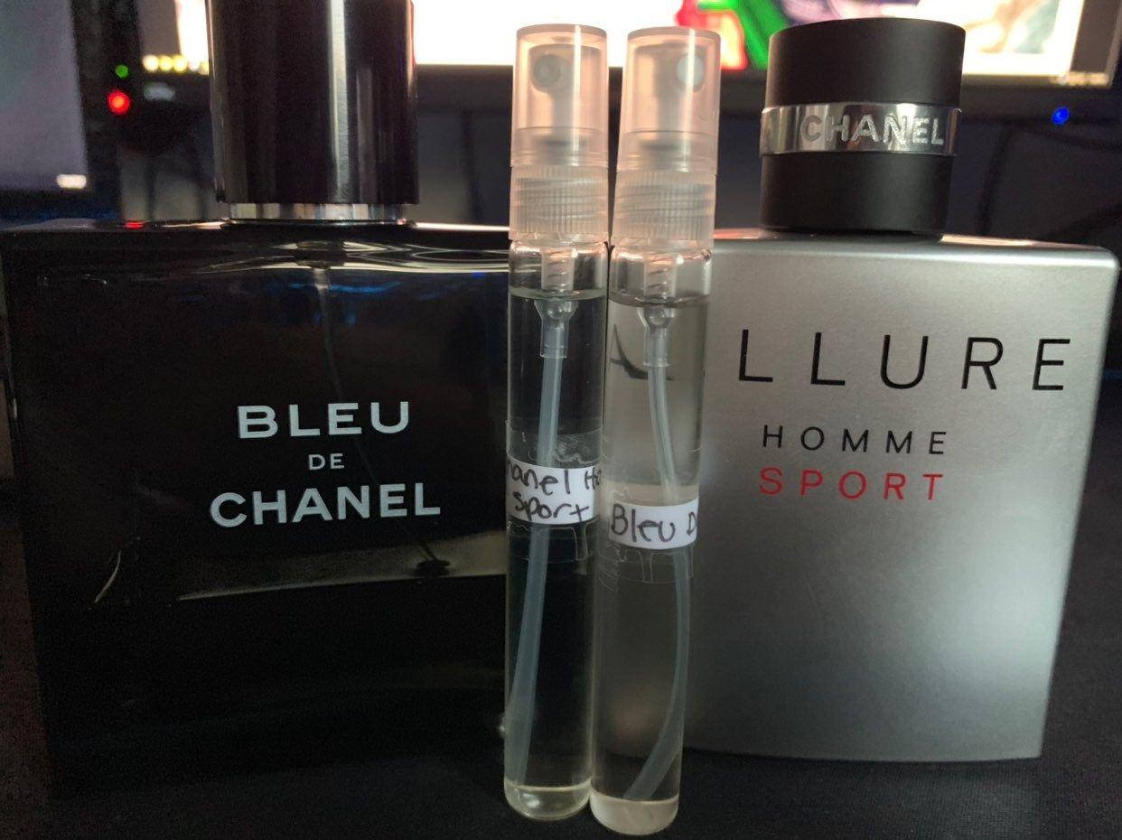 10ml Bleu De Chanel 10ml Chanel Allure Homme Sport Both in