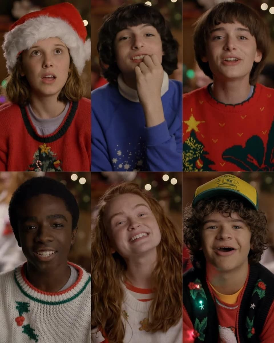 Stranger Things Christmas Video Screen Capture Eleven Mike Will