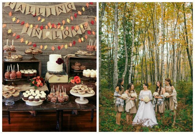7 Beautiful Autumn Wedding Ideas