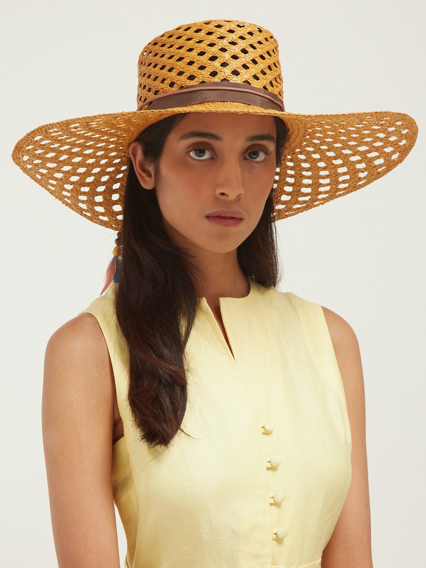 4486b516 Reed 1 feather-trimmed straw panama hat | House of Lafayette |  MATCHESFASHION.COM