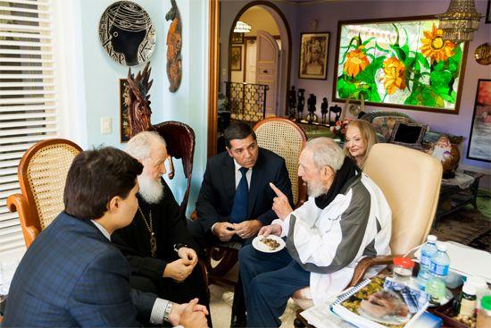 Visitó Su Santidad Kirill a Fidel