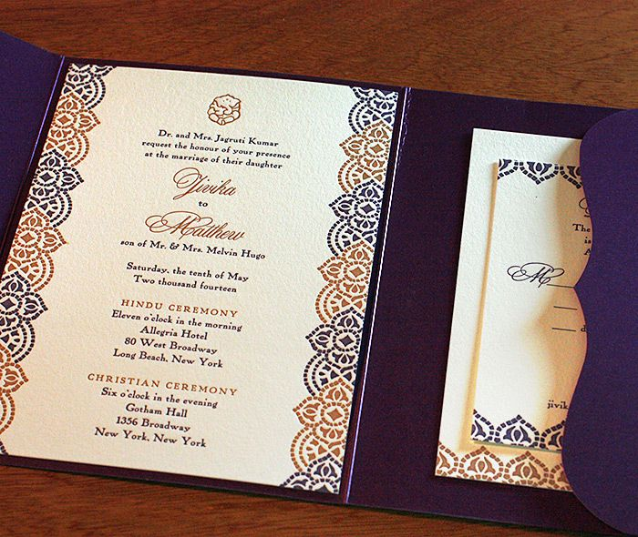 Jessica #wedding #invitation design with a peacock mehndi inspired - new sample letter invitation religious event