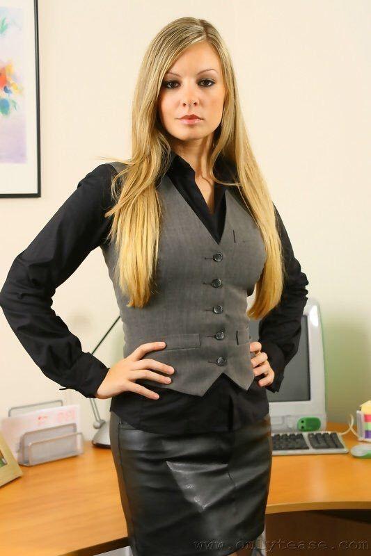 Busty mature secretary manage somehow
