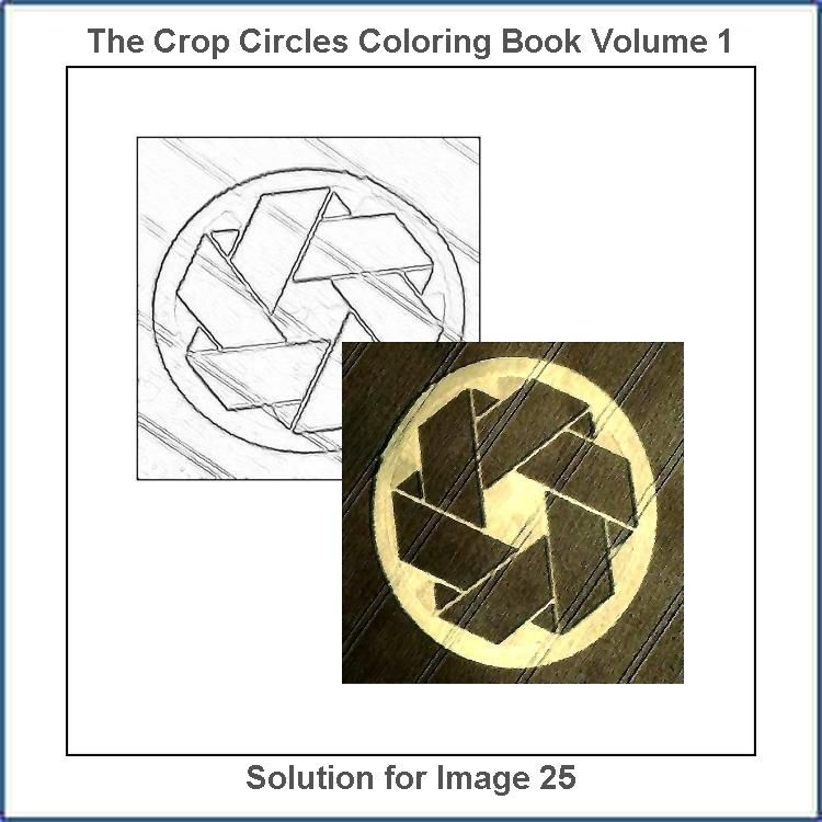 Solution For The Drawing Number 25 From The The Crop Circles Coloring Book Volume 1 In 2020 Circle Drawing Coloring Books Coloring Book Therapy