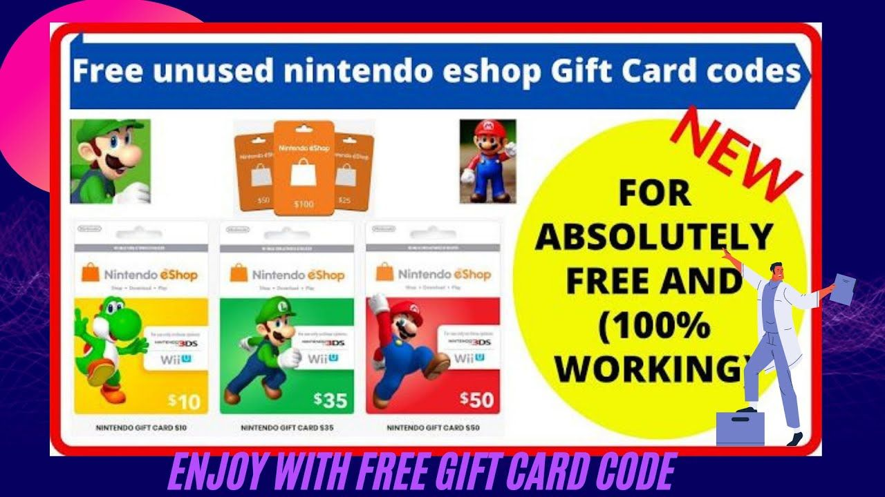 Free nintendo switch codes hack gift cards in 2021