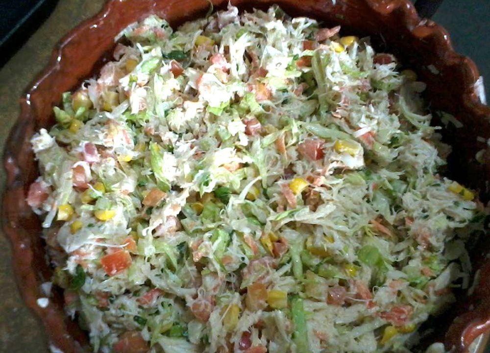 Ensalada de jaiba recetas de ensaladas pinterest - Ensalada de arroz con atun ...