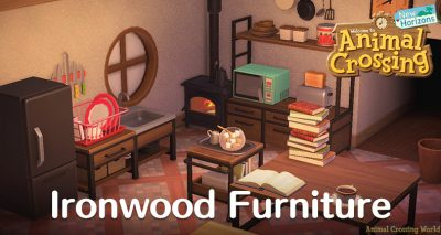 Ironwood Furniture Set How To Craft Get All Items Variations In Animal Crossing New Horizons Furniture Animal Crossing Furniture Sets