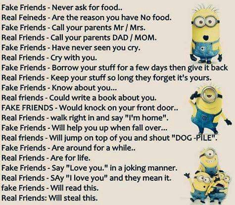 Real Friends Vs Fake Friends Friends Quotes Funny Friendship Quotes Funny Fun Quotes Funny