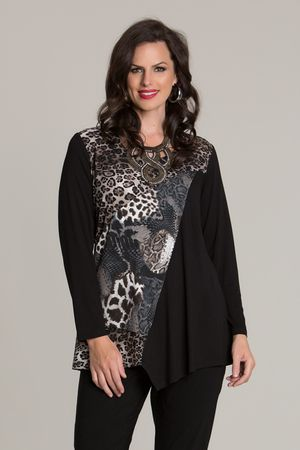 6003 Totally Animal Overlay Top