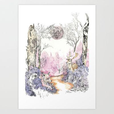 Woodland Magic Art Print by Jessica Feral - $17.68