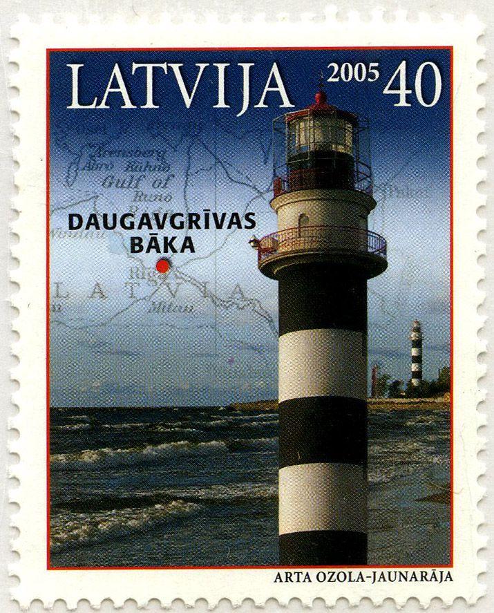 Faros de Letonia: Faro Daugavgrivas: Letonia. 2005