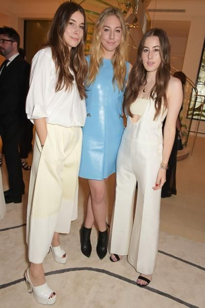 Celebs Who Are Rocking The All White Trend For Summeru2014Danielle (left) And