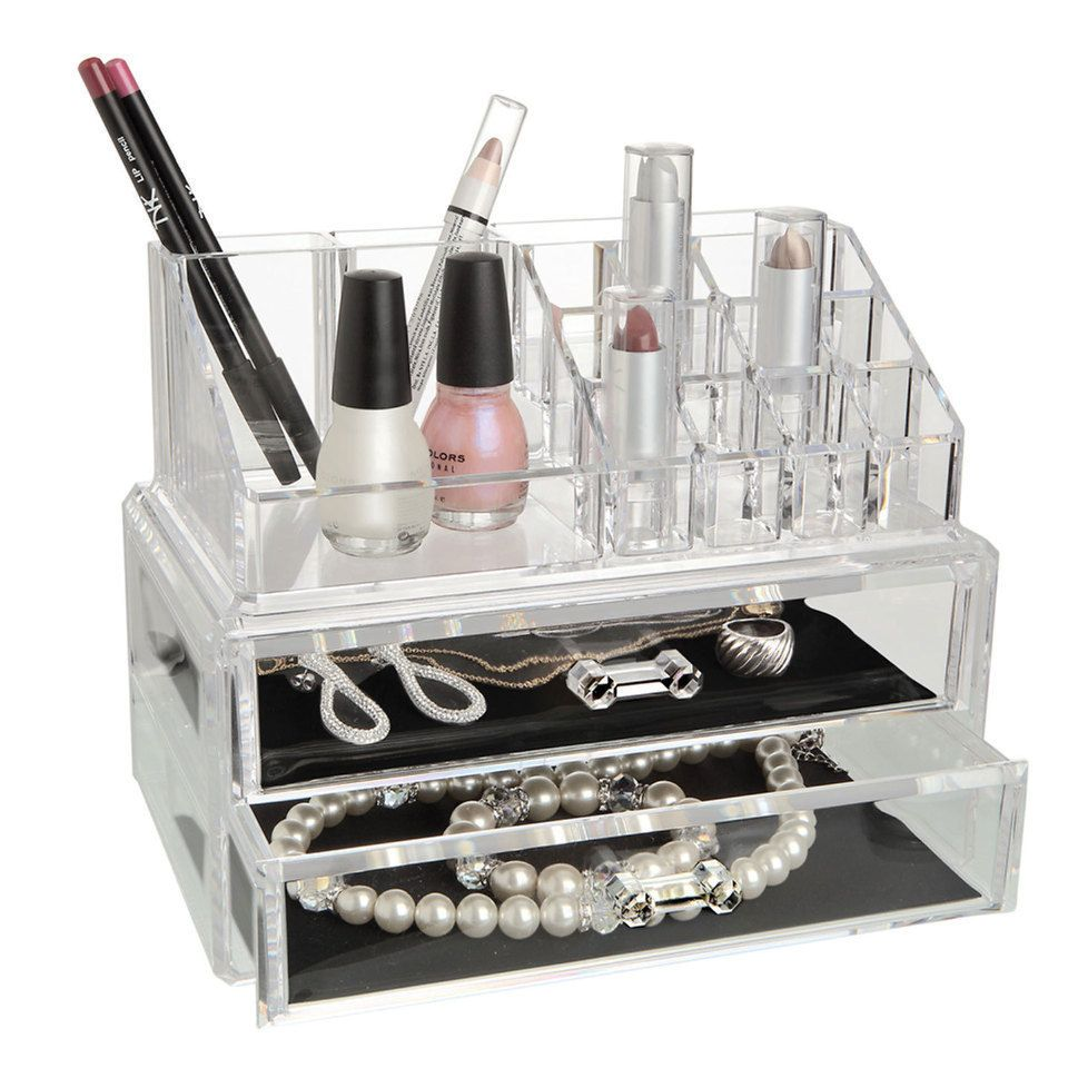 need a makeup organizer.. something like this would work