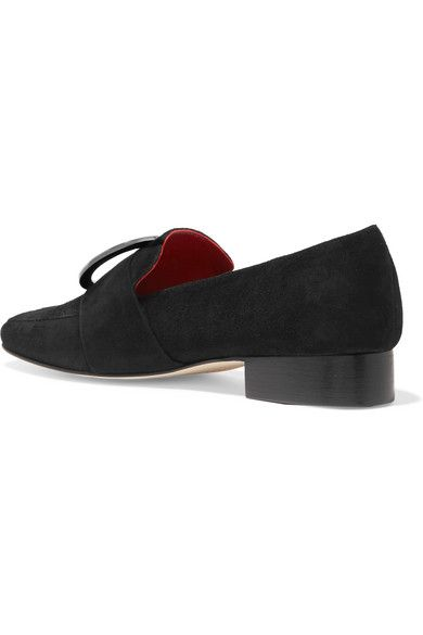 Harput Embellished Suede Loafers - Black DORATEYMUR Rk9gWw