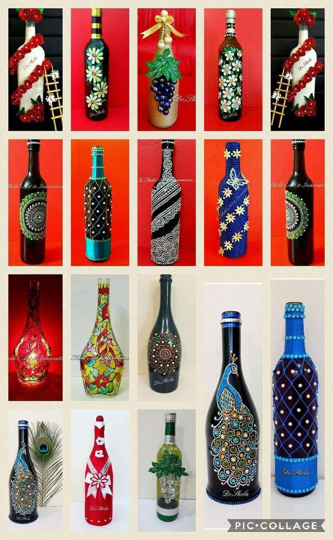 Quot Bottle Art Quot Best Out Of Waste Hobbyideas Bottle Art Bottle Art Projects Beer Bottle Art