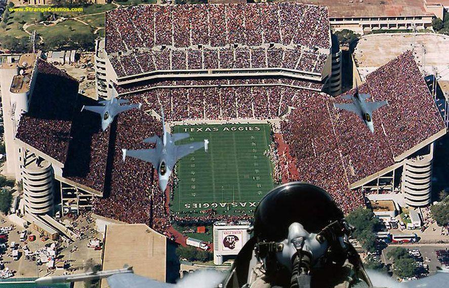 Amazing military flyover texas aggies football stadium