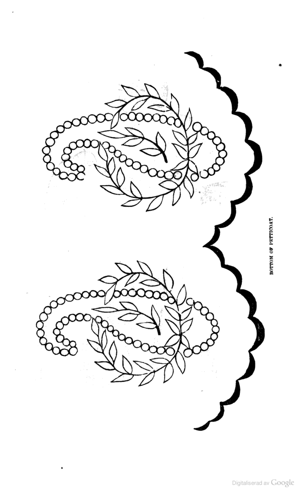 Embroidery pattern for hem of petticoat; Peterson's