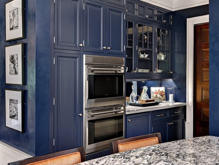 Modern Country Kitchen Blue miles redd kitchen | blue kitchens interior designer in charlotte