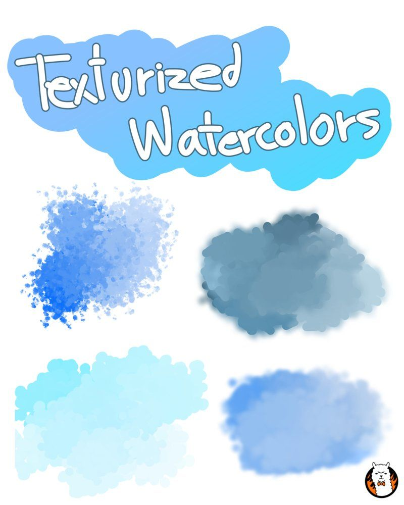 Texturized Watercolors For Firealpaca By Angelceleste Deviantart