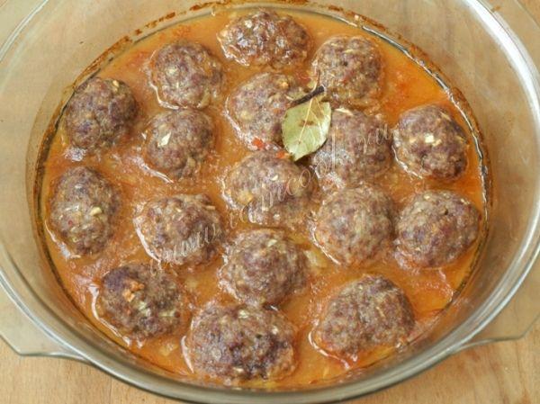 фрикадельки в духовке с подливкой рецепт с фото