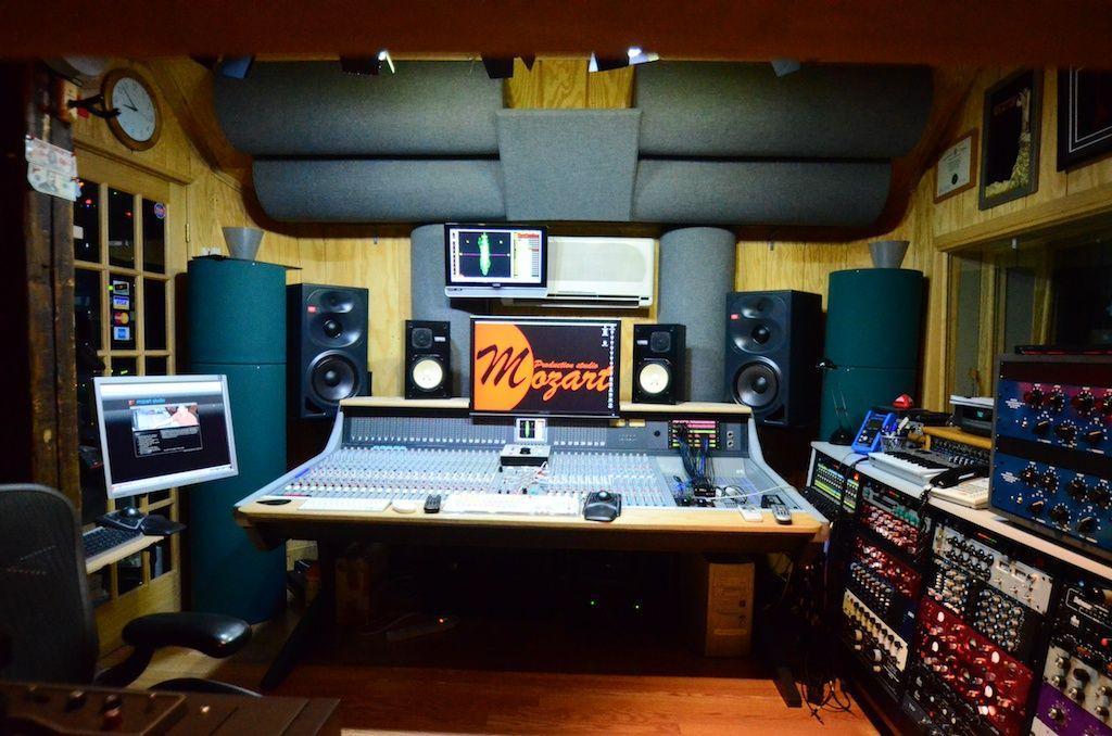 Control Room Mozart Studio Recording studio home, Home
