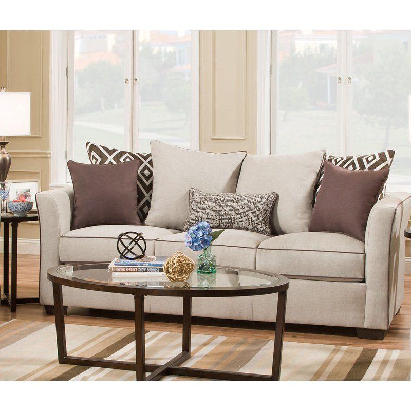 Simmons Upholstery Stewart Queen Sleeper Sofa - 4202-04Q STEWART LINEN