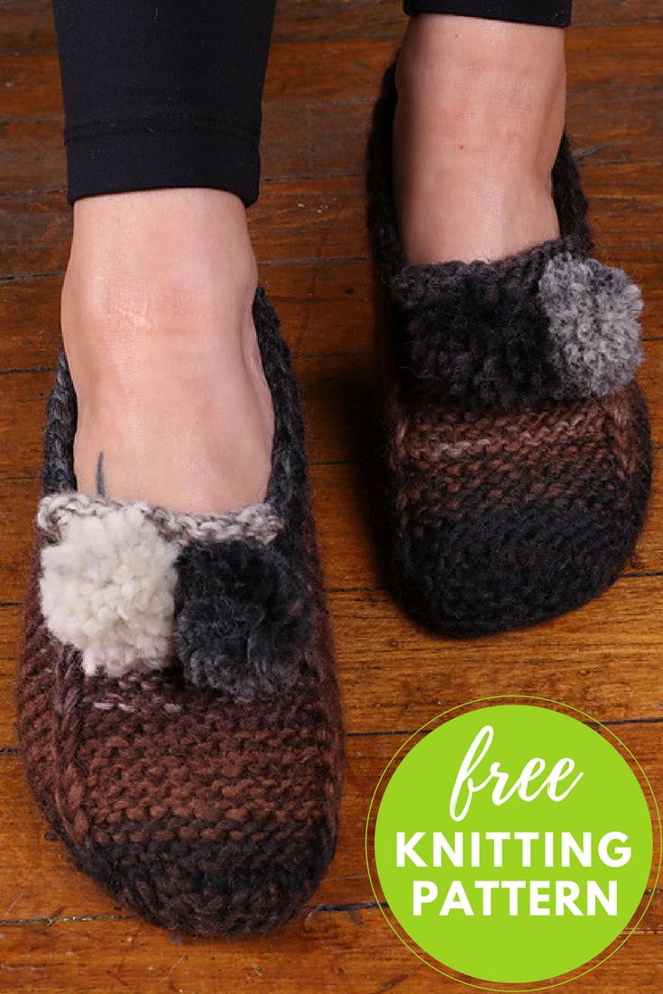 6202285d6 Slipper Socks Free Knitting Pattern   Knit & Crochet   Knit slippers ...