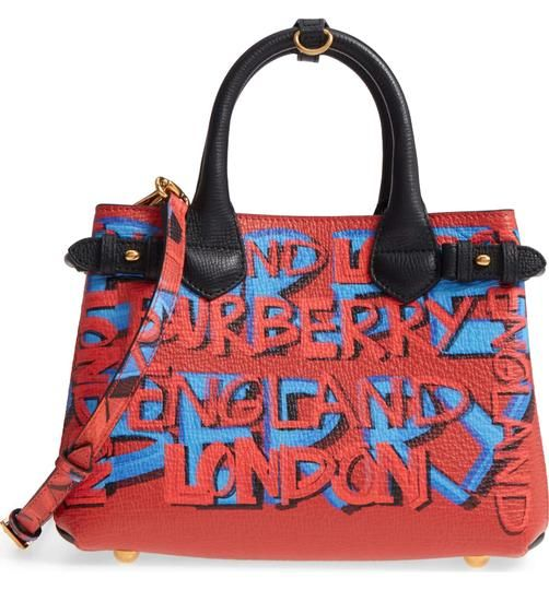 e2d2c3682c1f Get one of the hottest styles of the season! The Burberry Small Banner  Graffiti Black Leather Tote is a top 10 member favorite on Tradesy.
