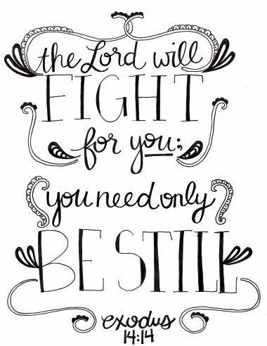 Be still an know that HE is GOD!!!