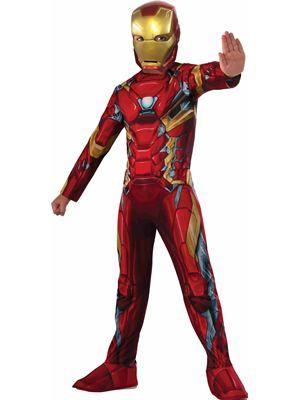 Fancy Dress Costume ~ Adults Marvel Classic Iron Man Costume