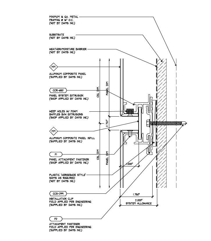 Rainscreen ACM Panel System Details | Landscape Detailing | Pinterest