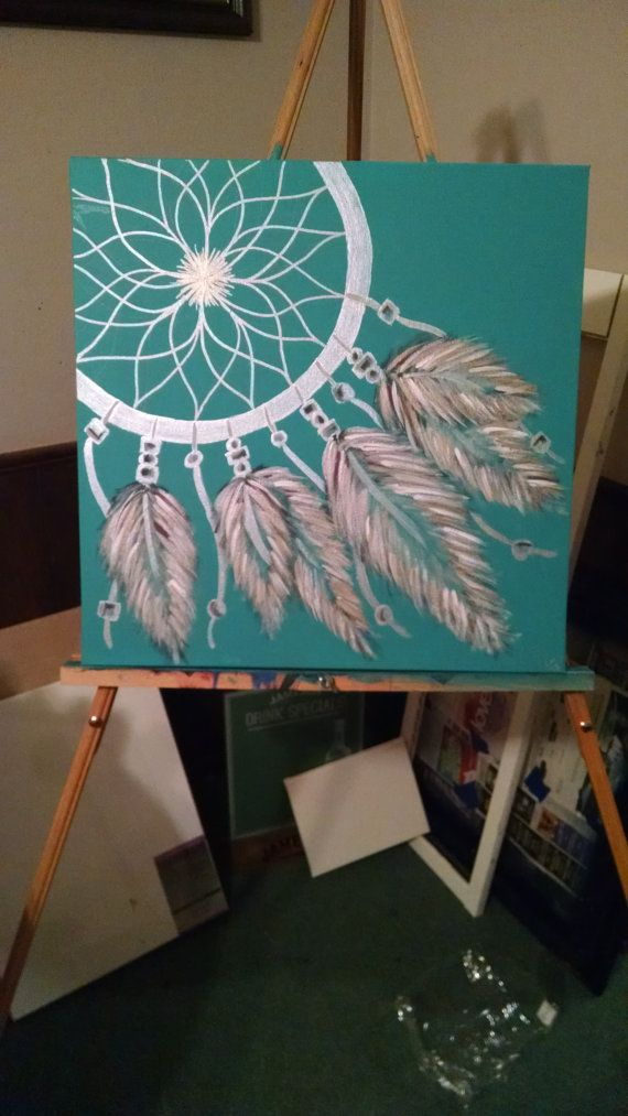 Dream Catcher Painting by CrystalsEdge on Etsy
