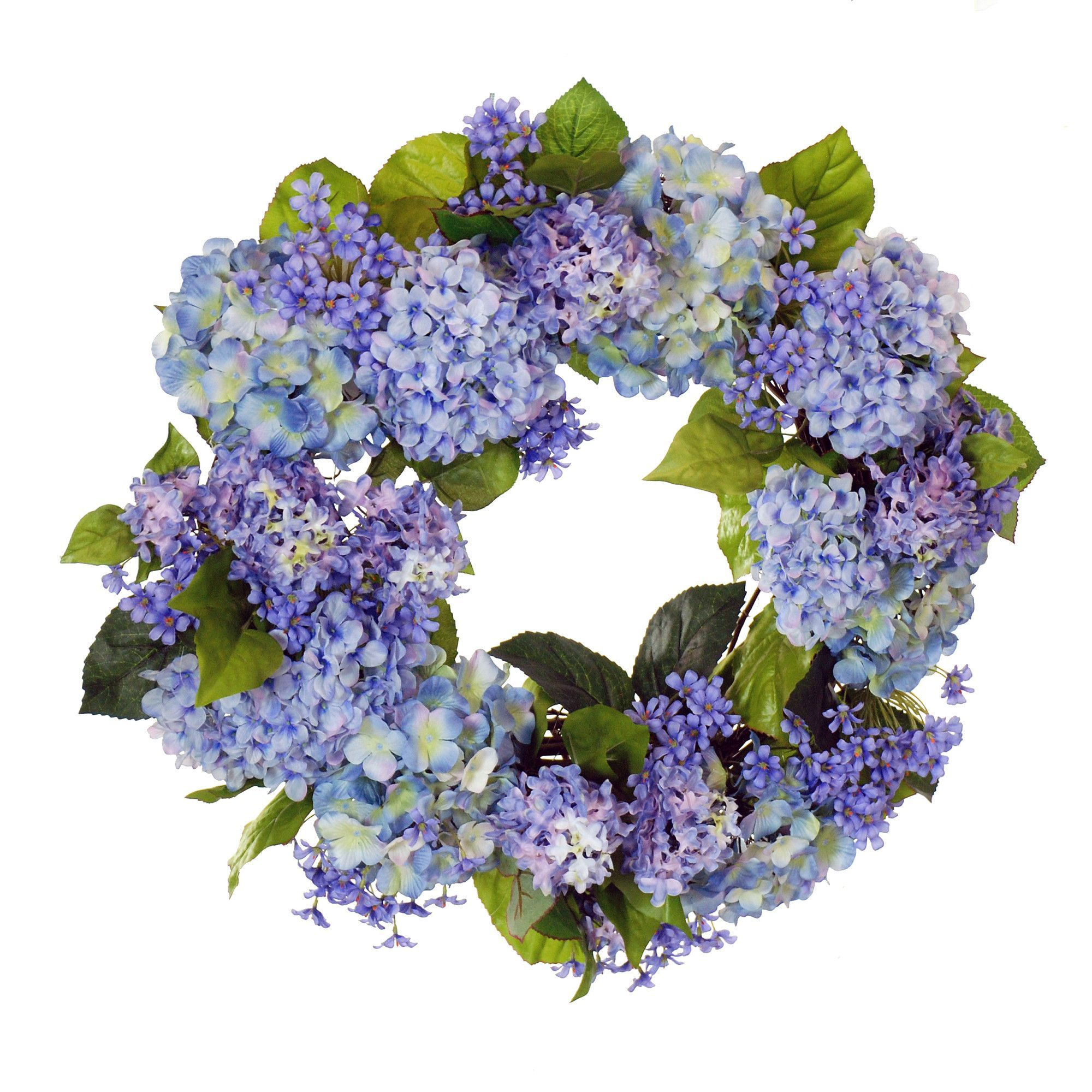 "26"" Hydrangea and Agapanthus Wreath"