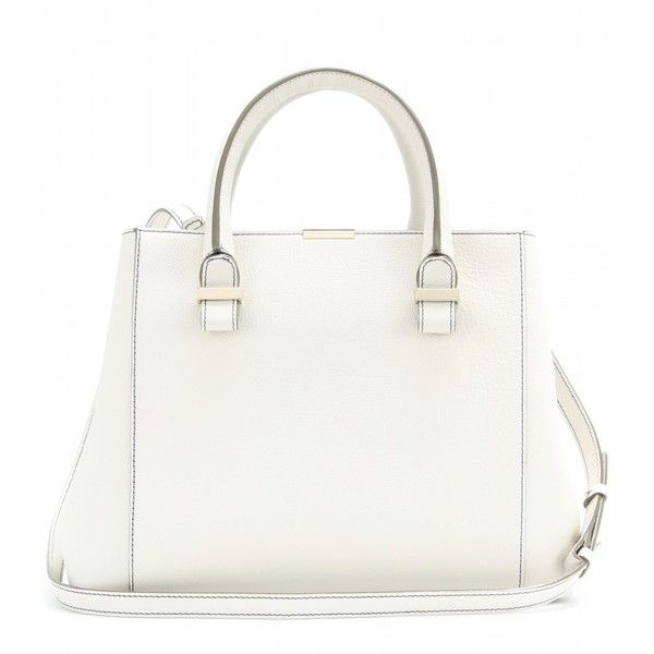 Victoria Beckham Quincy Leather Tote (€1.060) ❤ liked on Polyvore featuring bags, handbags, tote bags, purses, bolsas, accessories, white, real leather handbags, white leather tote and leather purse