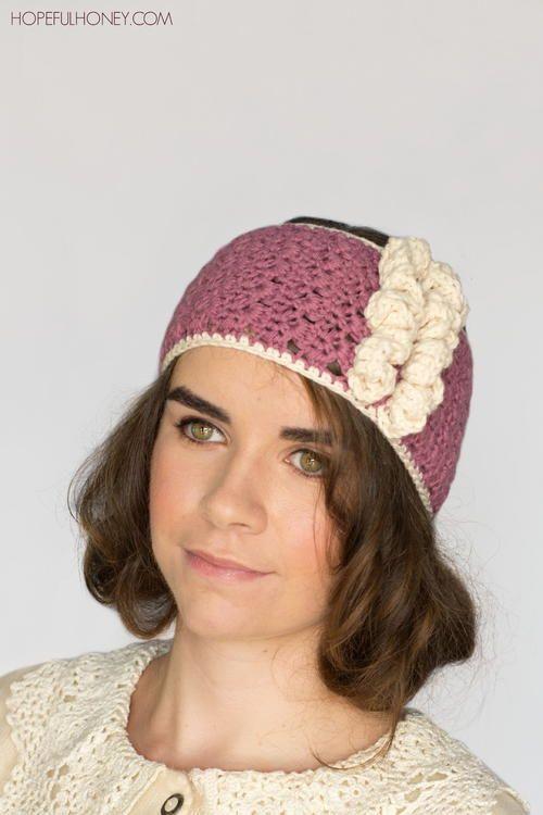 1920s Rose Swirl Crochet Headband   Crochet   Pinterest   Peinados