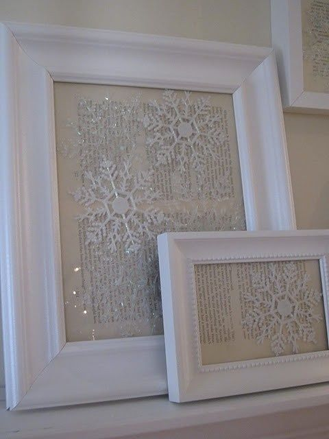 Put Dollar store snowflake ornaments against vintage paper in photo ...