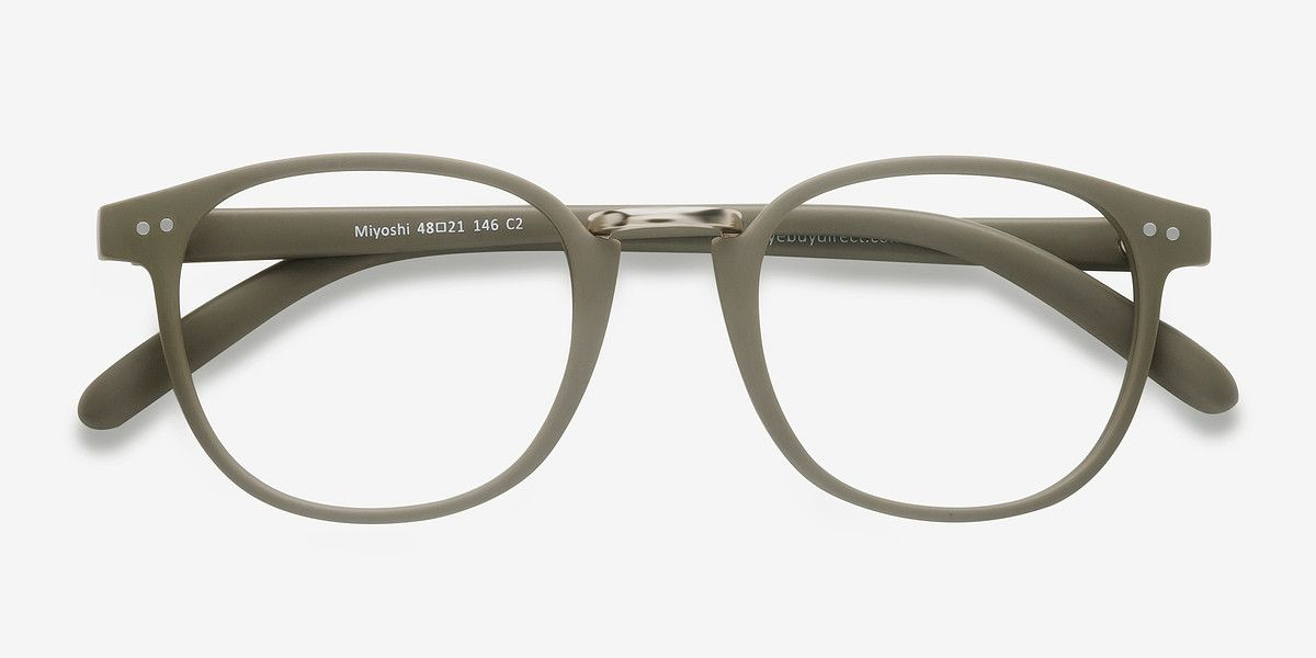 5f7a758176f57 Miyoshi Matte Green Metal Eyeglasses from EyeBuyDirect. Exceptional style
