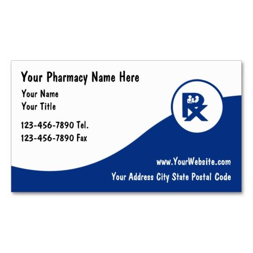 Pharmacy Business Cards  Medical Health Business Cards