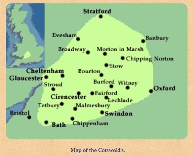 Map Of England Villages.7 Map Of The Cotswold S Lovely Cotswolds Villages Cotswolds Tour
