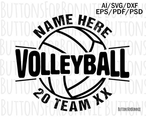 Volleyball Svg, volleyball vector, volleyball emblem, volleyball team, volleyball logo, digital cutt