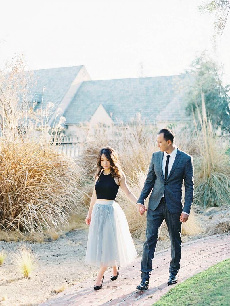 Stylish engagement shoot at Beverly Hill's Greystone Mansion via Magnolia Rouge