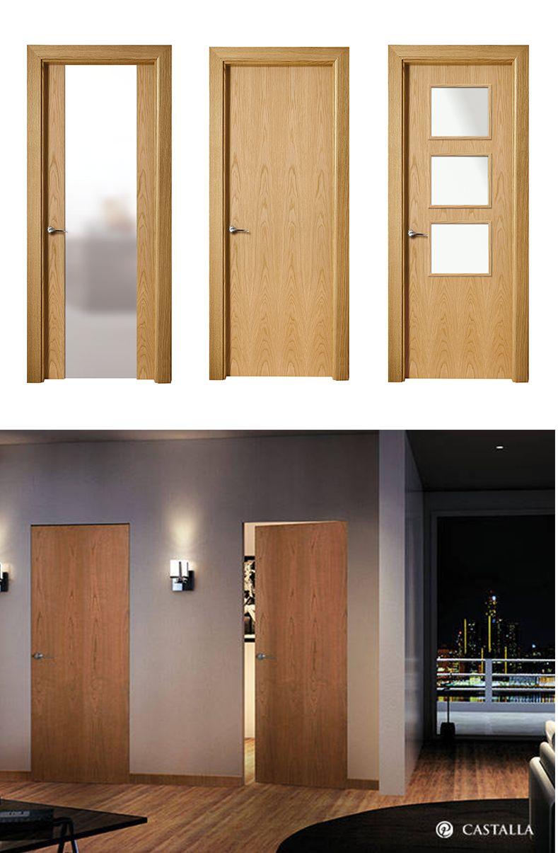Puerta de interior clara modelo lyon de la serie lisa de for Modelos de puertas de madera