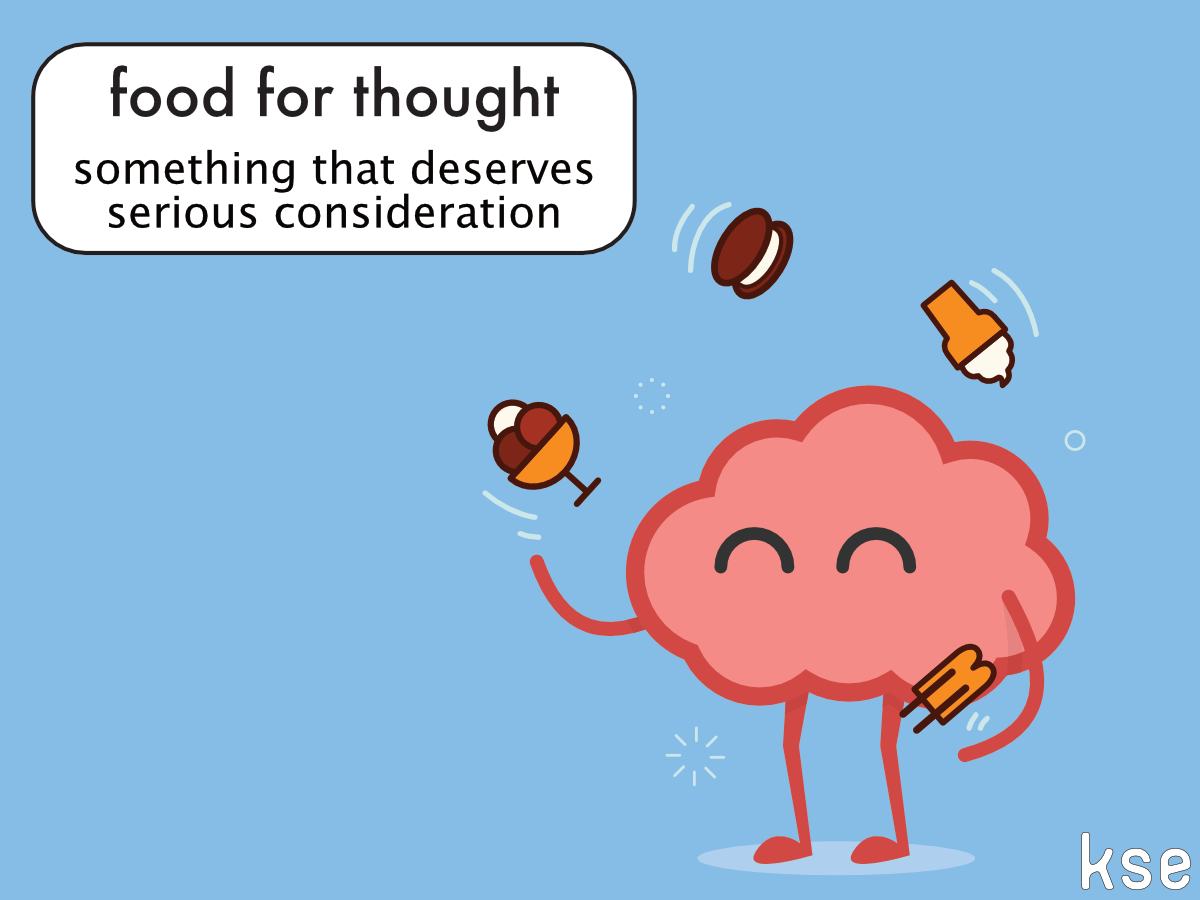 New Idiom Food For Thought Example All In All These