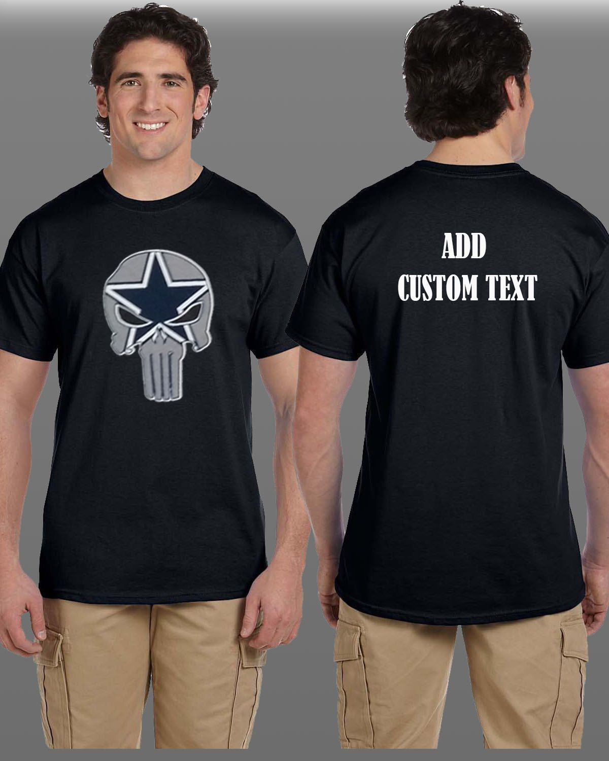 new concept 4e137 3d7c0 Dallas Cowboys Punisher Parody T Shirt We will add whatever ...