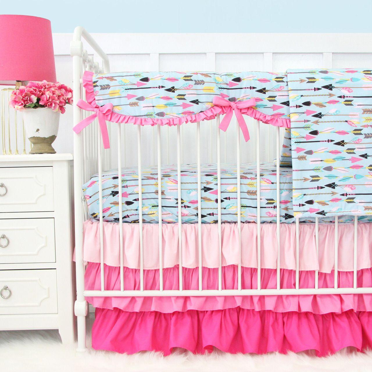 Caden Lane Baby Bedding Tribal Girl In Pink Girl Nursery